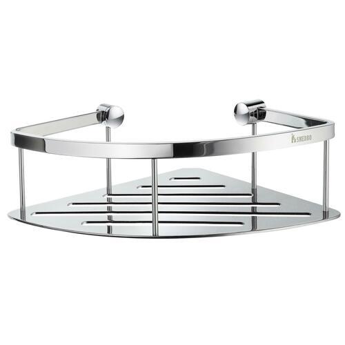 Smedbo DK3031 Round Front Corner Basket, Polished Chrome
