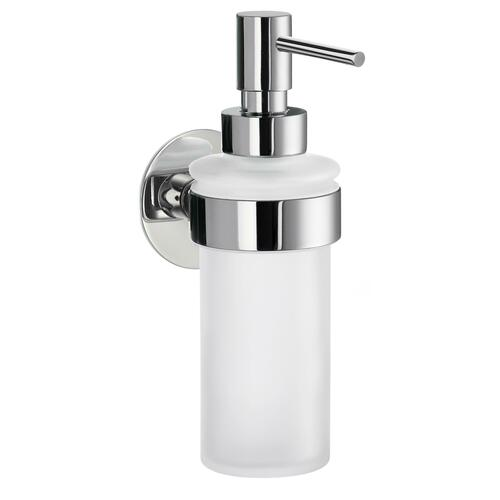 Smedbo YK369 Holder with Frosted Glass Soap Pump, Polished Chrome