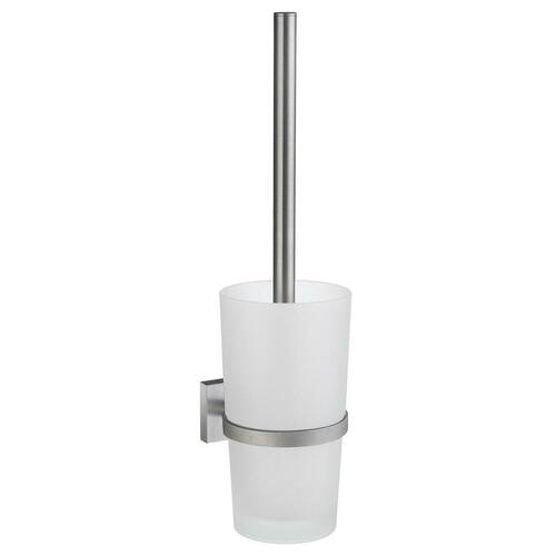Smedbo RS333 Toilet Brush Frostedd Glass, Brushed Chrome