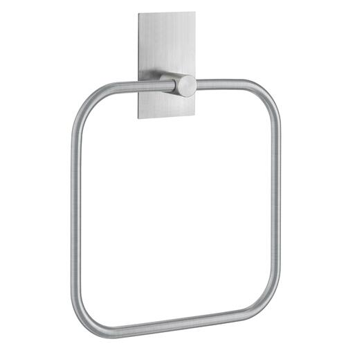 Smedbo B1038 Towel Ring, Angled, Brushed Stainless Steel