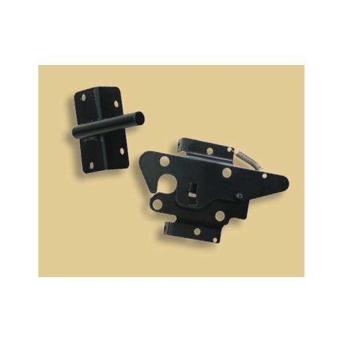 Snug Cottage 3200-BPSS Black Auto-Closing Latch for Aluminum Gates
