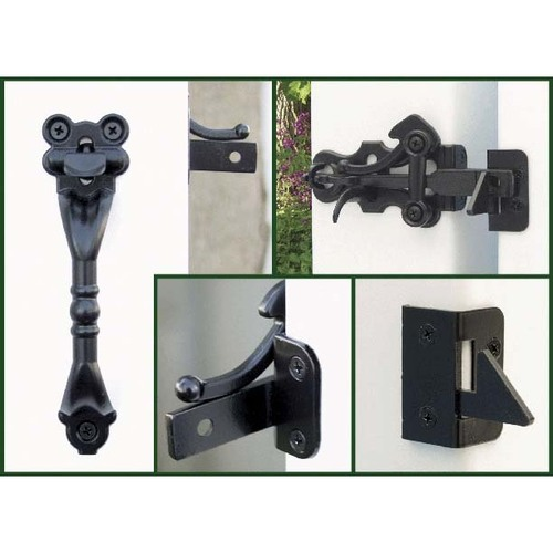 Snug Cottage 4300-PSP Black Hampton Thumb Latch