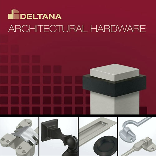 Deltana ZDRU26 Zinc Modern Low Profile Single Cylinder Deadbolt Grade 3, Bright Chrome Finish