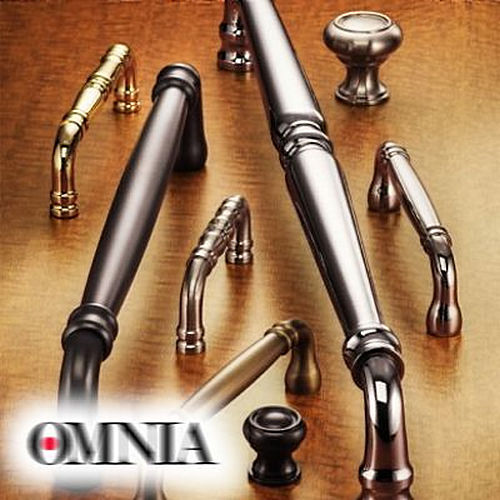 Omnia 653/00.15 Contemporary Flush Pull Satin Nickel Finish