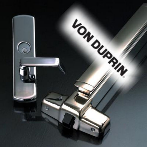 Von Duprin 360L26DLH07 Left Hand Reverse 07 Lever Trim for 33 Series Control Key Unlocks, Satin Chrome Finish
