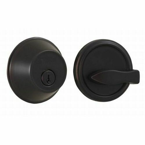 Weslock 00371-1-1SL23 300 Series Single Cylinder Deadbolt with Adjustable Latch and Deadbolt Strikes Oil Rubbed Bronze Finish