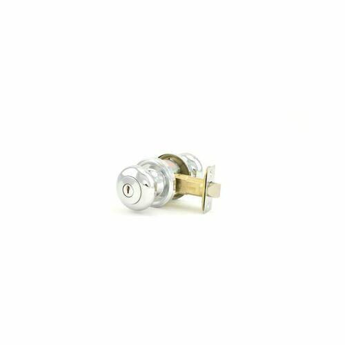 Weslock 00640I6I6SL23 Impresa Entry Lock with Adjustable Latch and Full Lip Strike Bright Chrome Finish