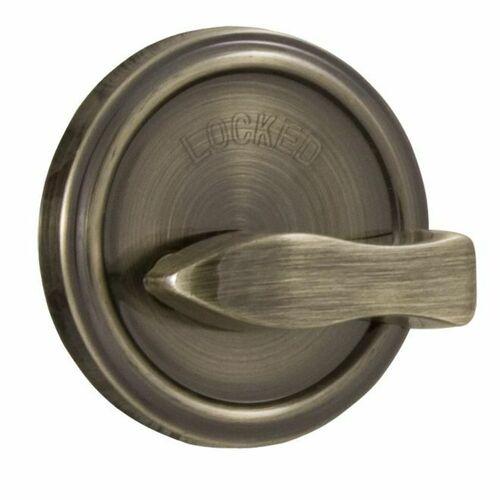 Weslock 00667-A-ASL23 Turn Only Deadbolt with Adjustable Latch and Deadbolt Strike Antique Brass Finish