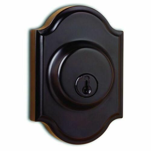 Weslock 01771-1-1SL23 Single Cylinder Premiere Deadbolt with Adjustable Latch and Deadbolt Strike Oil Rubbed Bronze Finish