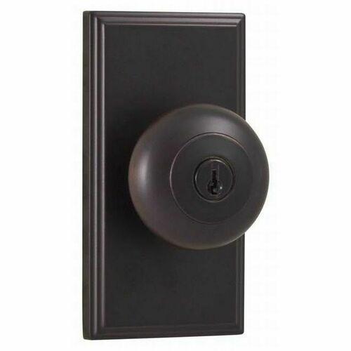 Weslock 03740I1I1SL23 Impresa Woodward Entry Lock with Adjustable Latch and Full Lip Strike Oil Rubbed Bronze Finish