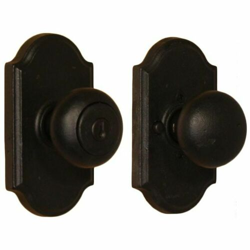 Weslock 07140F2F2SL23 Wexford Premiere Entry Lock with Adjustable Latch and Full Lip Strike Black Finish