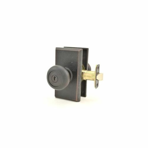 Weslock 07340F1F1SL23 Wexford Square Entry Lock with Adjustable Latch and Full Lip Strike Oil Rubbed Bronze Finish