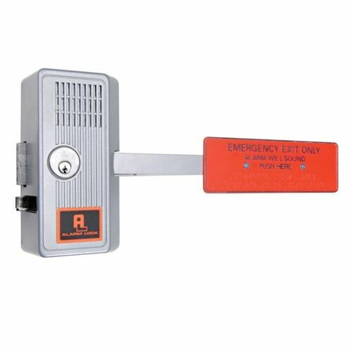Alarm Lock 25028 Alarmed Paddle Panic Lock Aluminum Finish