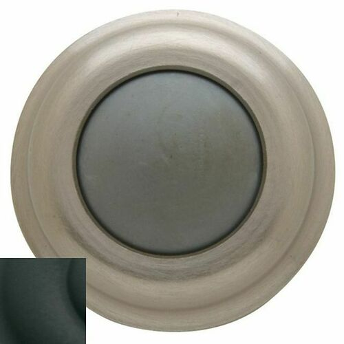 Baldwin 4015190 Convex Wall Bumper Satin Black Finish