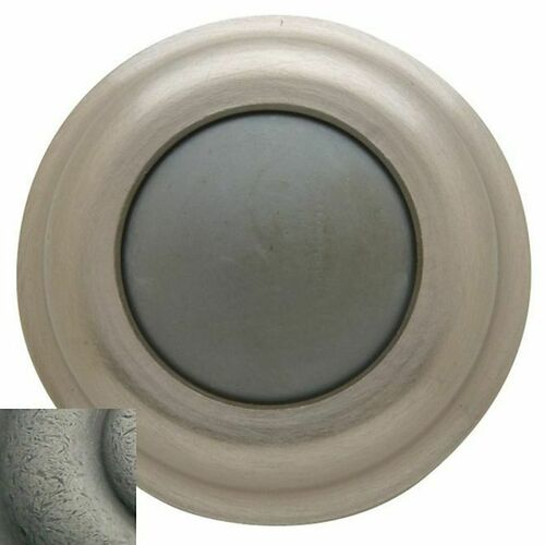 Baldwin 4015452 Convex Wall Bumper Distressed Antique Nickel Finish