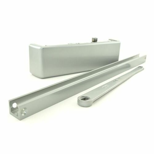 LCN 4111TRH Right Hand Size 1 Stop Face Push Side Track Door Closer with Thru Bolts 689 Aluminum Finish