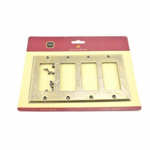 Baldwin 4742050 Quadruple Rocker Beveled Switch Plate Antique Brass Finish