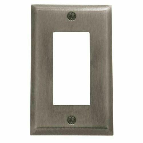 Baldwin 4754151 Single Rocker Beveled Switch Plate Antique Nickel Finish
