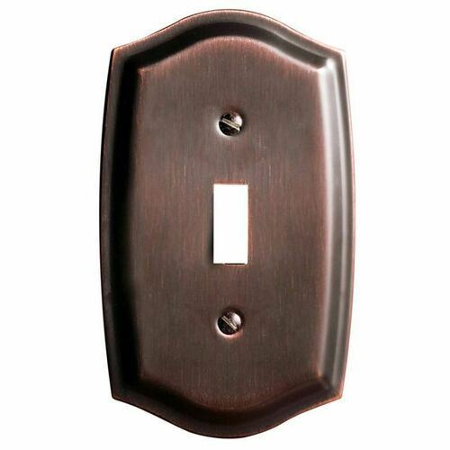 Baldwin 4756112 Single Toggle Colonial Switch Plate Venetian Bronze Finish