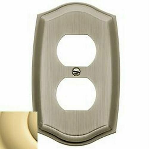Baldwin 4757030 Single Outlet Colonial Switch Plate Bright Brass Finish