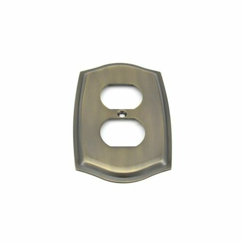 Baldwin 4757050 Single Outlet Colonial Switch Plate Antique Brass Finish