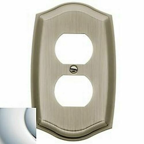 Baldwin 4757260 Single Outlet Colonial Switch Plate Bright Chrome Finish