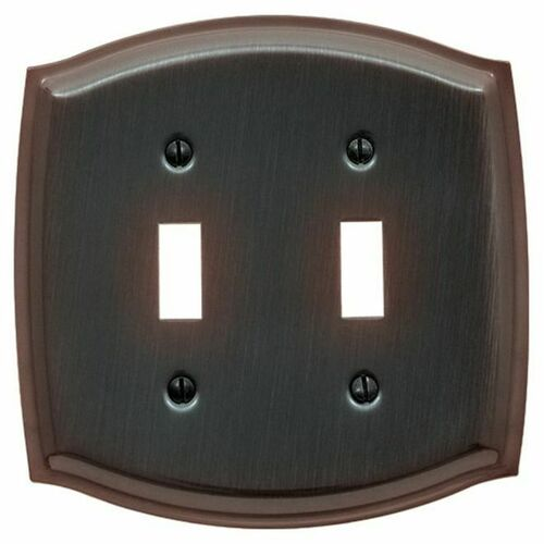 Baldwin 4766112 Double Toggle Colonial Switch Plate Venetian Bronze Finish