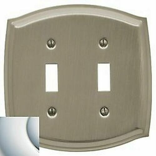 Baldwin 4766260 Double Toggle Colonial Switch Plate Bright Chrome Finish