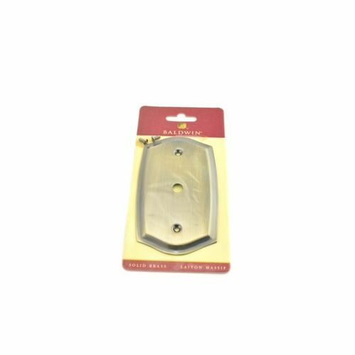 Baldwin 4769050 Cable Cover Colonial Switch Plate Antique Brass Finish