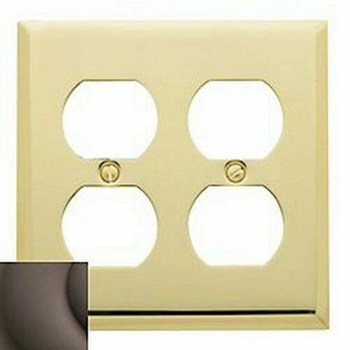 Baldwin 4771112 Double Outlet Beveled Switch Plate Venetian Bronze Finish