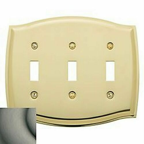 Baldwin 4780151 Triple Toggle Colonial Switch Plate Antique Nickel Finish