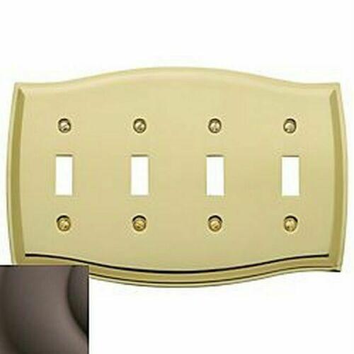 Baldwin 4782112 Quadruple Toggle Colonial Switch Plate Venetian Bronze Finish