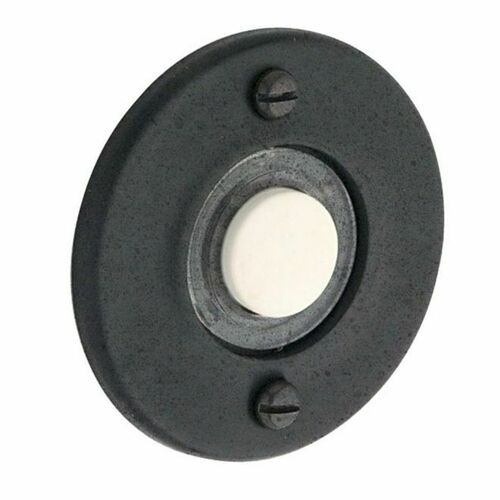 Baldwin 4851402 Round Bell Button Distressed Oil Rubbed Bronze Finish