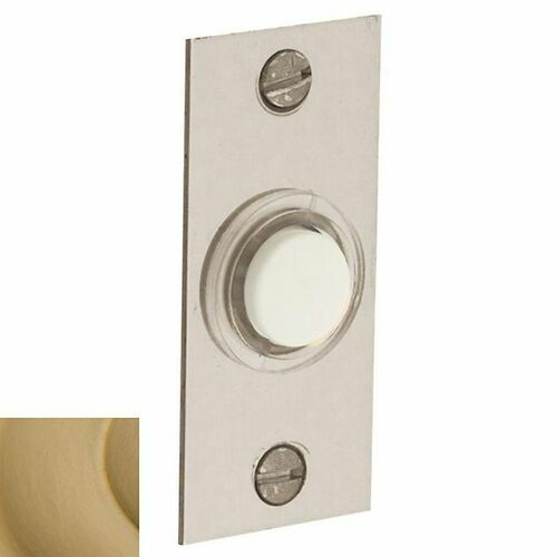 Baldwin 4853033 Rectangular Bell Button Vintage Brass Finish