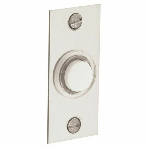 Baldwin 4853055 Rectangular Bell Button Lifetime Bright Nickel Finish