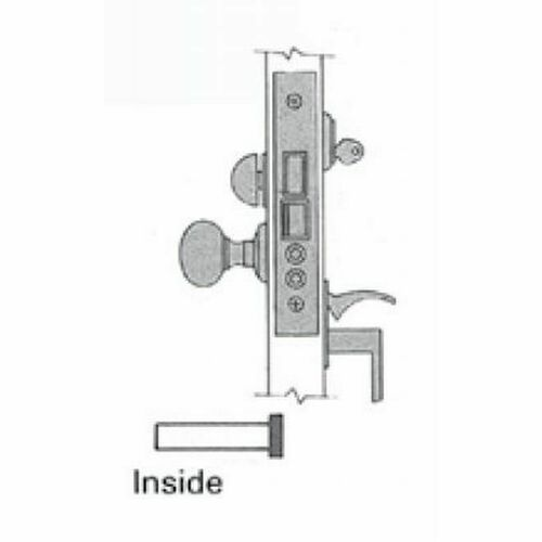 Baldwin 6320031R Right Hand Residential Entry Handleset by Knob 2-1/2