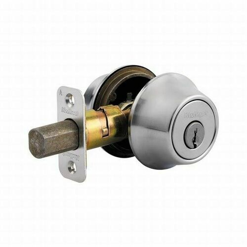 Kwikset 665-26DV1 Double Cylinder Deadbolt with New Chassis with RCAL Latch and RCS Strike Satin Chrome Finish