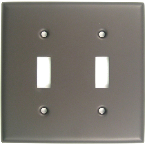 Rusticware 785ORB Double Toggle Switch Plate Oil Rubbed Bronze Finish