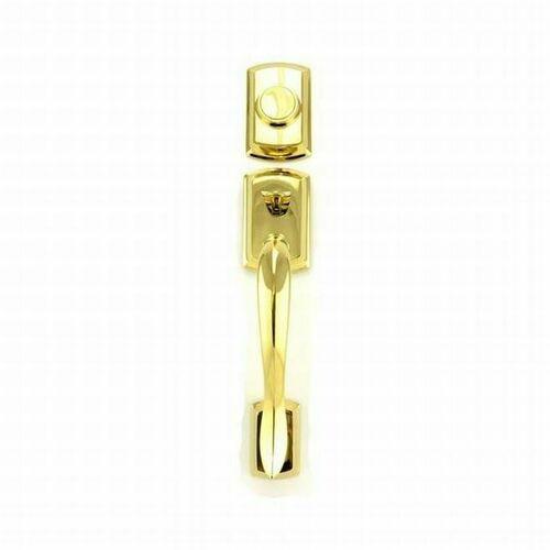 Kwikset 802AVHLIP-L03 Avalon Dummy Exterior Handleset Lifetime Brass Finish
