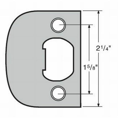 Kwikset 83030-15 UL Square Corner Full Lip Strike Satin Nickel Finish