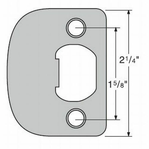 Kwikset 83031-15 UL Radius Corner Full Lip Strike Satin Nickel Finish