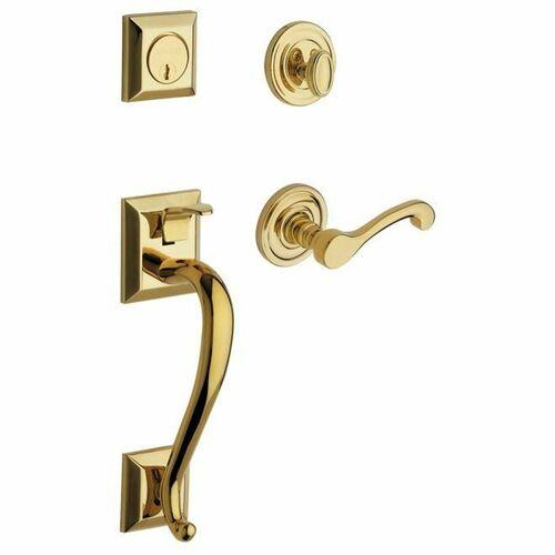 Baldwin 85320003LENT Madison Sectional Tubular Left Hand Single Cylinder Handleset Lifetime Brass Finish