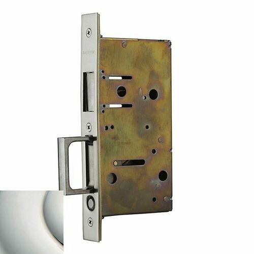 Baldwin 8603055 Pocket Door Strike with Pull for Dummy Side of Double Door Lifetime Bright Nickel Finish