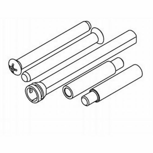 Kwikset 86130-26 Thick Door Screw Pack for 665 / 875 Bright Chrome Finish