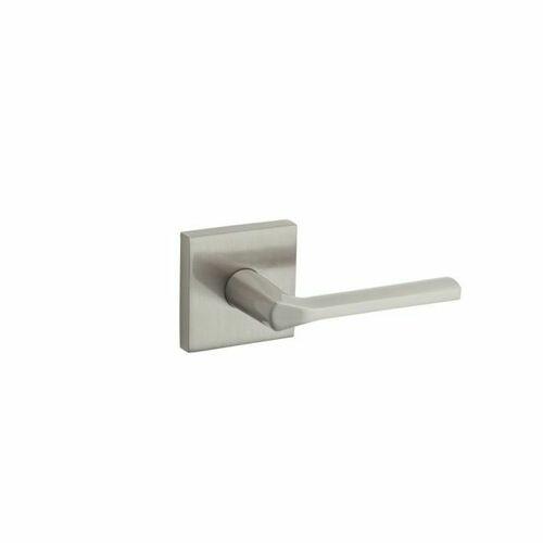 Kwikset 966LSLSQT-15 Lisbon Square Interior Single Cylinder Handleset Trim Satin Nickel Finish
