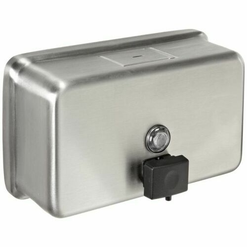 Bobrick B2112 40 Ounce Tank Surface Mounted Soap Dispenser Satin Stainless Steel Finish