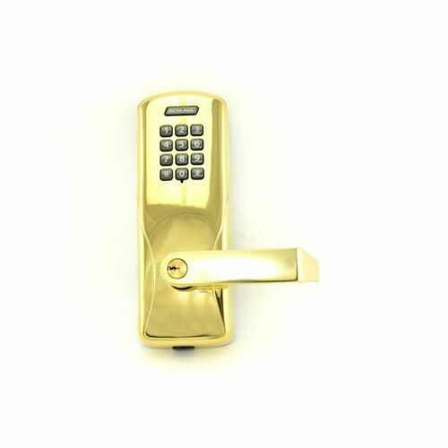Schlage CO100CY70KPRHO605 Standalone Keypad Programmable Electronic Lock Cylindrical Classroom / Storeroom Keypad Rhodes Lever with 13247 Latch and...