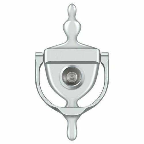 Deltana DKV630U26 Door Knocker-Viewer, Polished Chrome