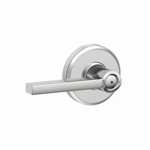 Schlage F40LAT625GSN Latitude Lever with Greyson Rose Privacy Lock with 16080 Latch and 10027 Strike Bright Chrome Finish