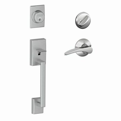 Schlage F60CEN626MNH625RH Century Exterior Active Handleset C Keyway with Right Hand Manhattan Lever Interior Active Trim with 12326 Latch and 1026...